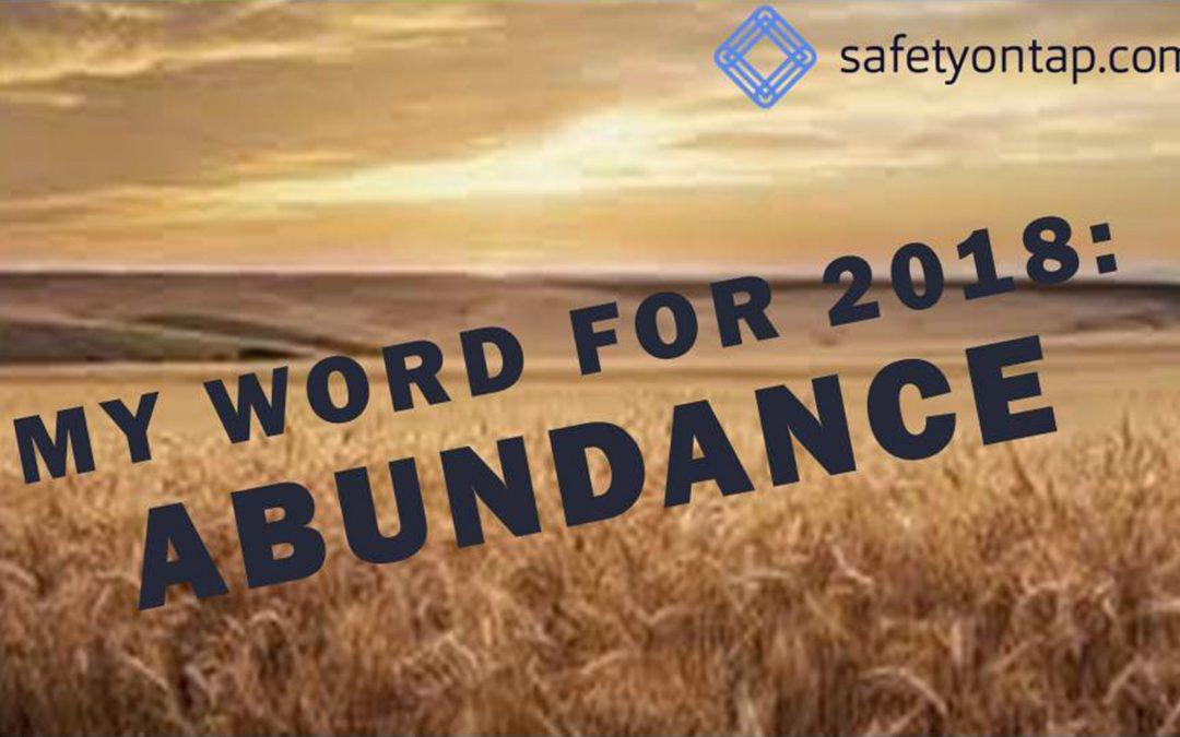 Ep073: My word for 2018 – Abundance