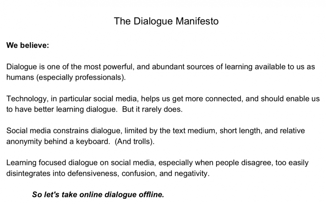 The Dialogue Manifesto