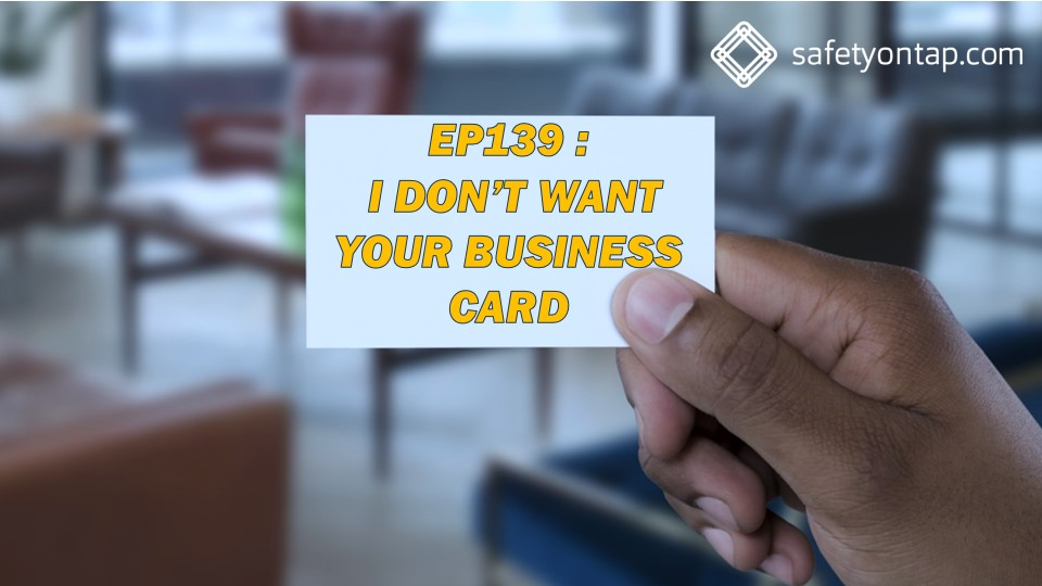 Ep139 I don't want your business card, with Andrew Barrett