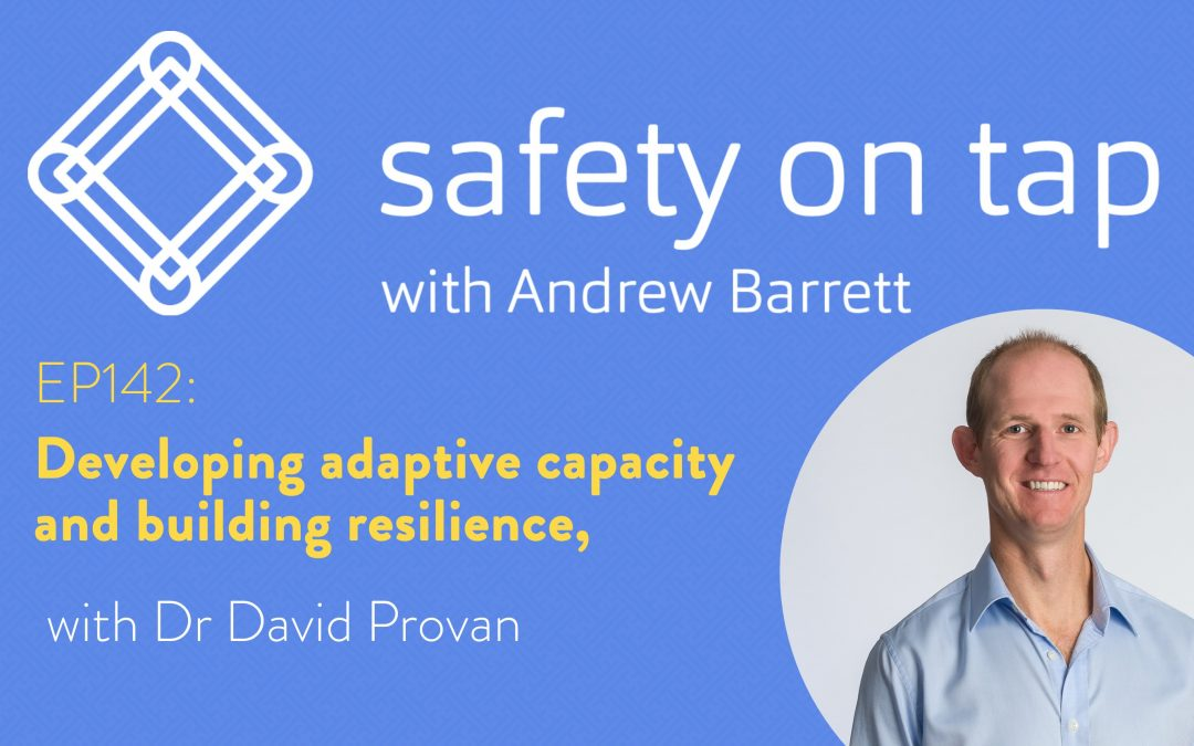 Ep142: Developing adaptive capacity and building resilience, with Dr David Provan