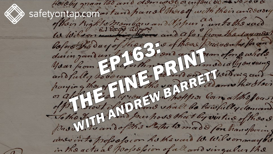 Ep163 The fine print, with Andrew Barrett